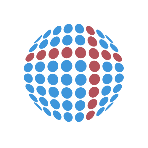 Blue and Red Globe Light