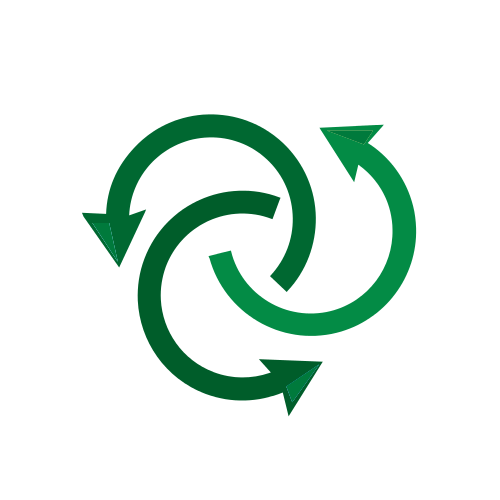 Green Arrows Circle Logo