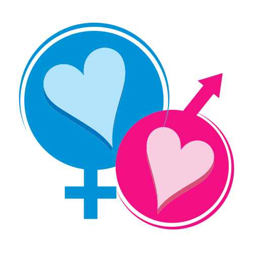 Male Female Sign Hearts Logo