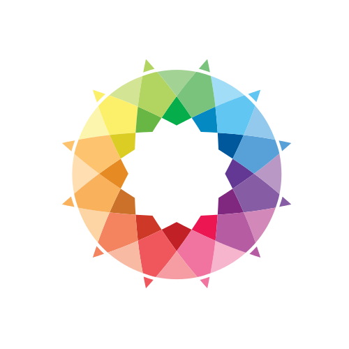 Rainbow Color Sun Logo