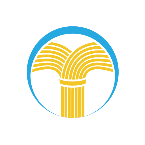 Wheat Agriculture Pillars  Logo