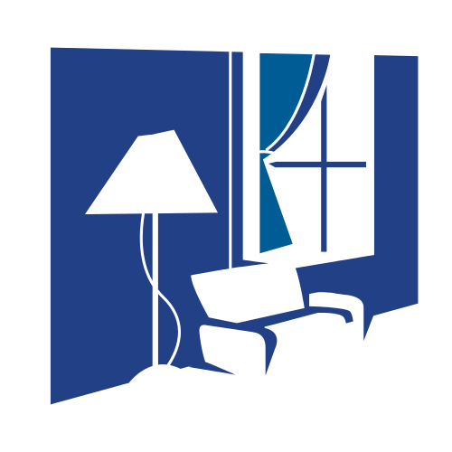 Blue Living Room Set Logo
