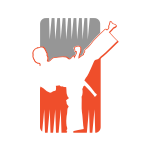 Karate Kick Silhouette Logo Design