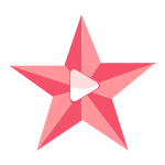 Pink Star Play Button