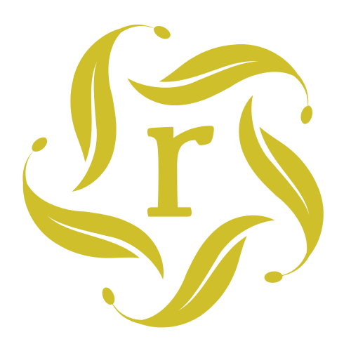 Letter R Leaves Logo