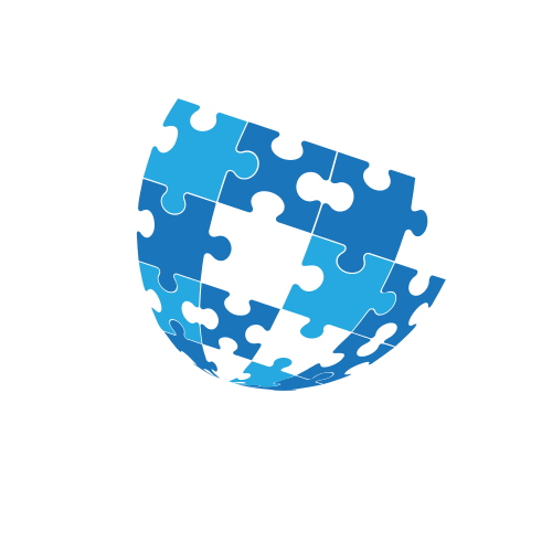 Puzzles Globe Business  Logo