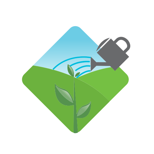 Watering Can and Plant Logo