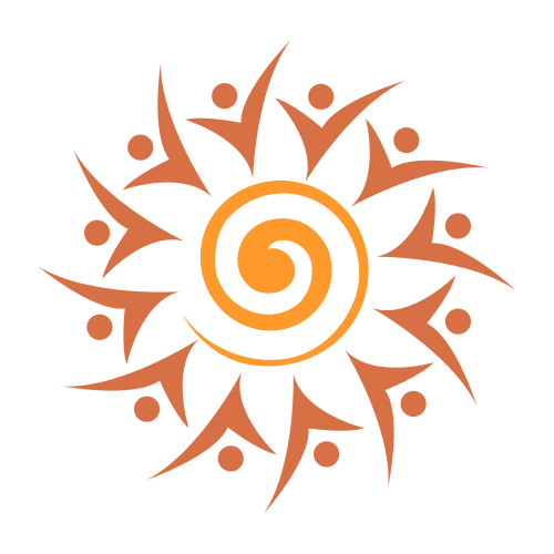 Happy Vaction Sun Logo