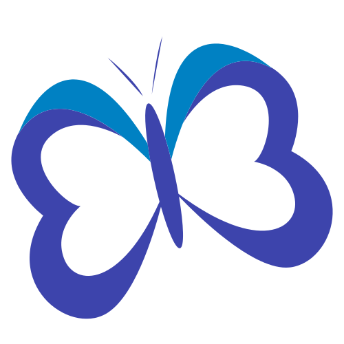 Purple Flying Butterfly  Logo