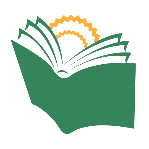 Sunny Book Pages Education  Logo