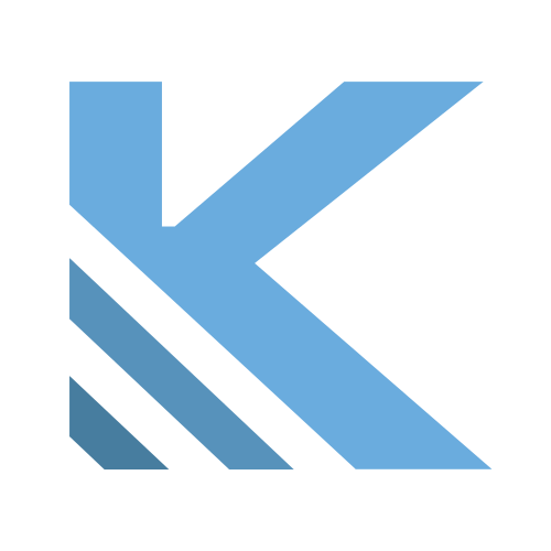 Letter K Stripes  Logo