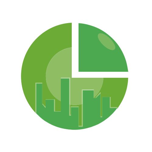 Green Skyline Pie Logo