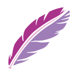 Purple Art Feather