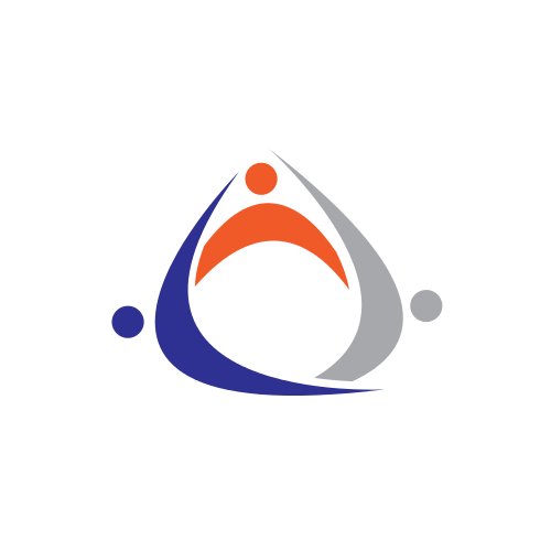 Business Triangle People  Logo