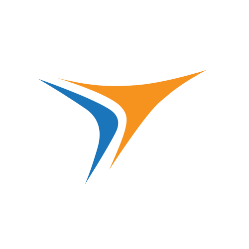 Blue Orange Computer Arrows