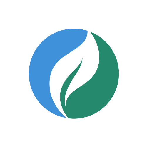 White Leaf Circle  Logo