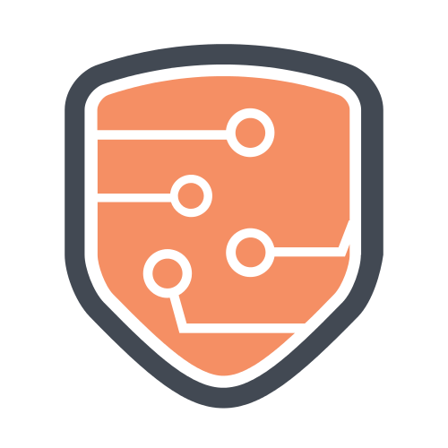 Orange Technology Shield