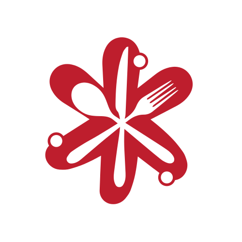 Food Utensils Star Logo