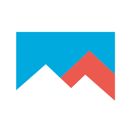 Red and Blue Mountain Sky Logo