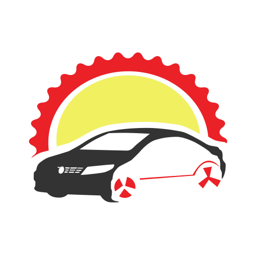 Car Wheels Sun  Logo