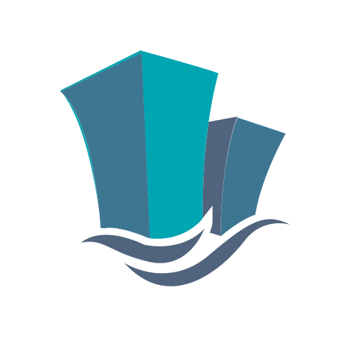 Buildings and Water Logo Logo
