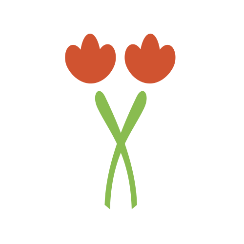 Crossing Red Flower Logo