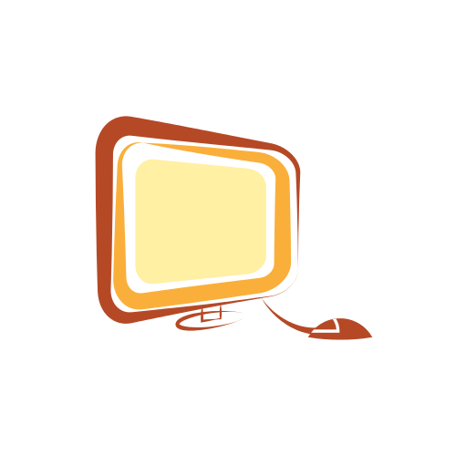 Orange Computer Monitor  Logo