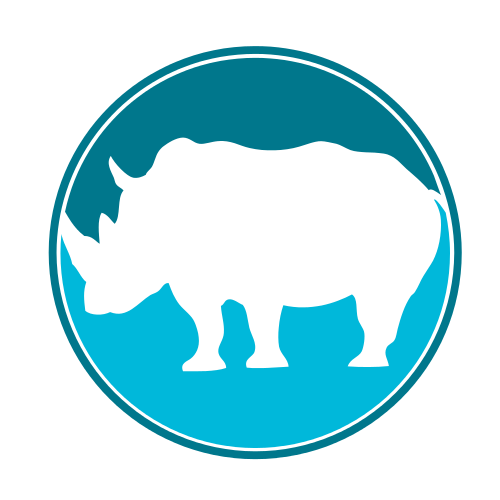 Blue Rhino Animal  Logo