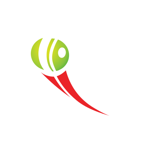 tennis ball, red, green, swoosh