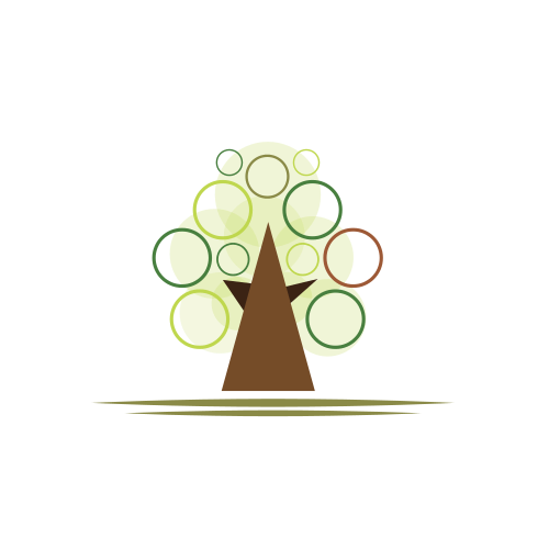 Abstract Tree Landscaping  Logo