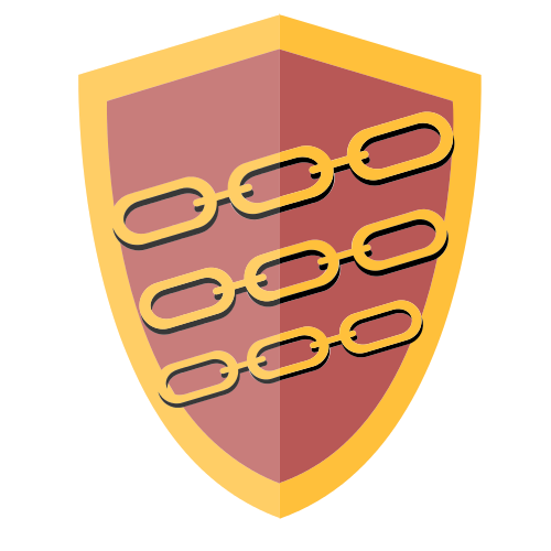 Chain Security Shield  Logo
