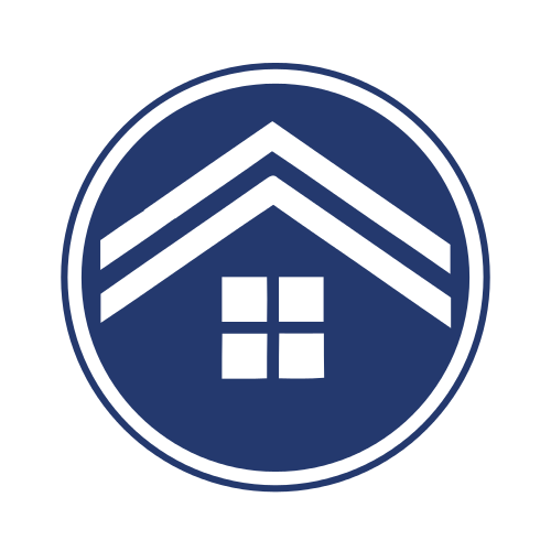 Blue Mortgage Circle  Logo