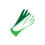 Green and White Hand Logo