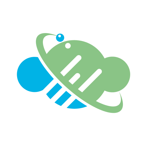 Blue and Green Cloud Logo