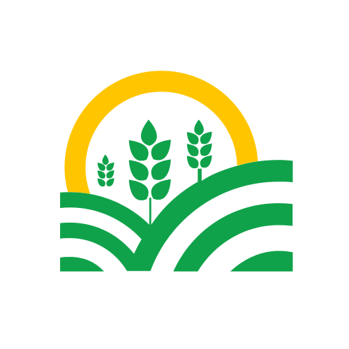 Green Plant and Sun Logo