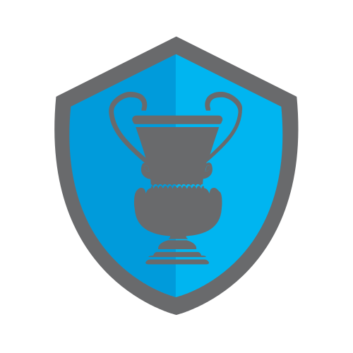 shield, trophy, blue , gray
