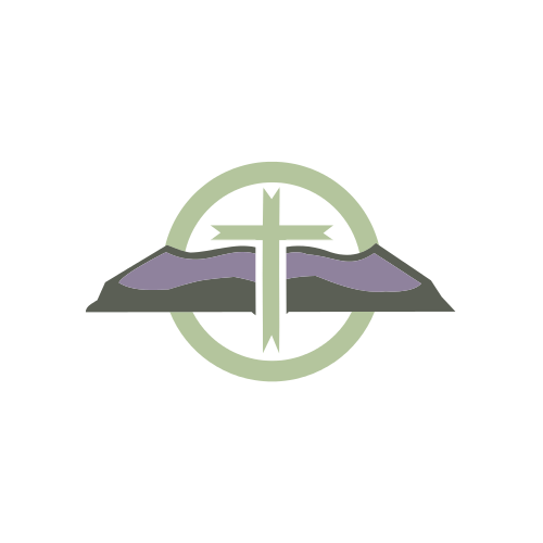 Green Religious Cross  Logo