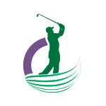 Golf Player Silhouette Logo Design