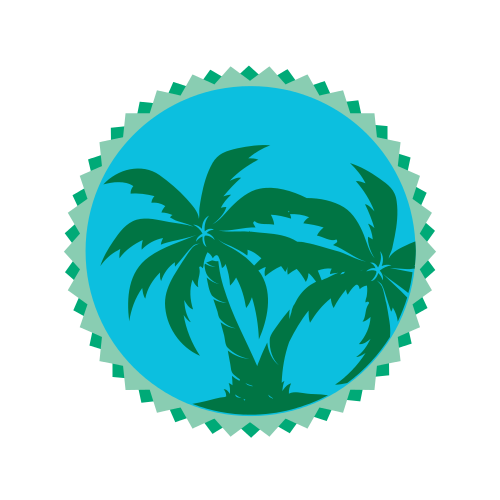 Double Palm Trees  Logo
