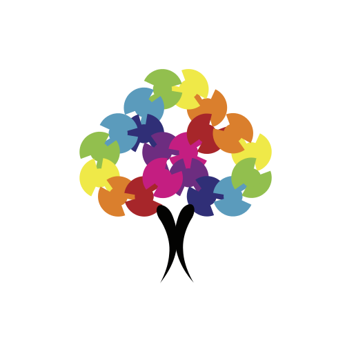 Colorful Cleaning Tree  Logo