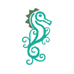 Green Seahorse Floral