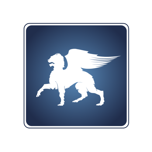White Pegasus Animal  Logo