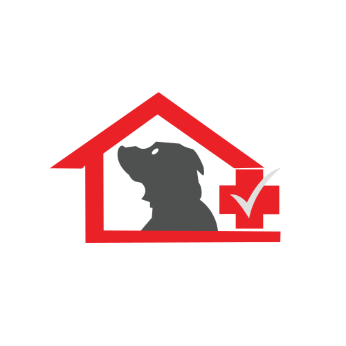 Dog in Red House Logo