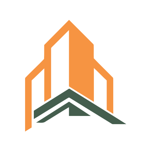 Architectural Orange Buildings  Logo