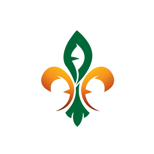 Orange Green Leaves Logo
