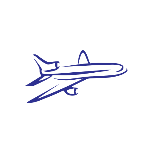 Blue Flying Plane Logo Graphicsprings