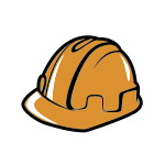 Orange Construction Helmet