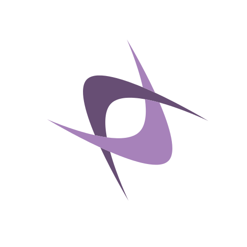 Purple Abstract Boomerangs  Logo