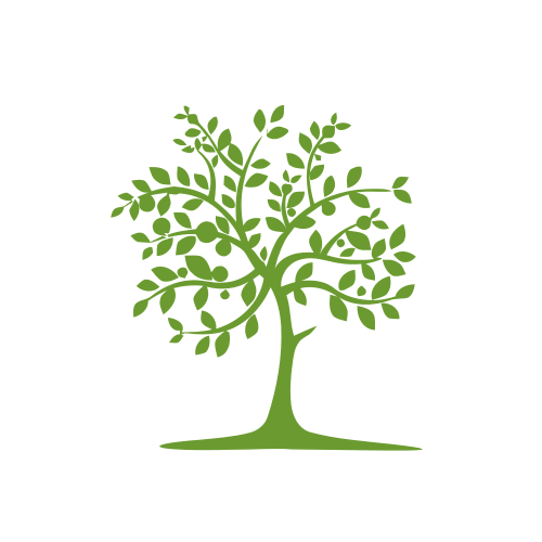 Green Leaves Tree Landscape Logo