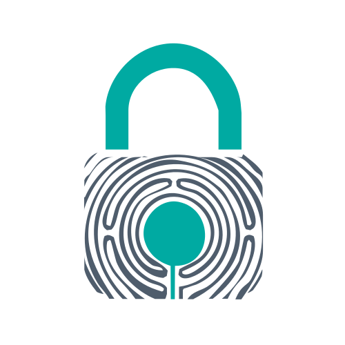 Finger Print Security Lock Logo